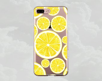 iPhone 7 case.iPhone 7 Plus case.iPhone 6s case.iPhone 6s Plus case.iPhone 6 case.iPhone 6 Plus.Clear phone case.Food case.Lemons.Lemonade