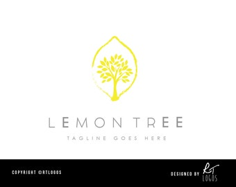 Pre-made Art Gallery / Restaurant / Lemon Tree logo for customising