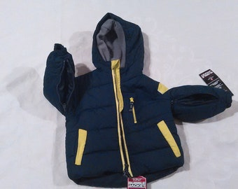 Special Needs Boys size 2/3T Blue/Lime color Winter Coat
