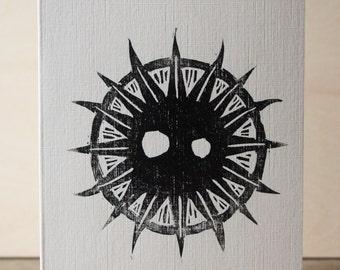 Sun Woodcut Greetings Card