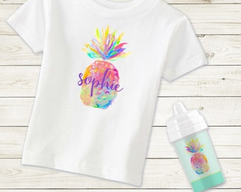 Toddler Pineapple Shirt, personalized toddler shirt, toddler girl shirt, toddler girl clothes, toddler girl outfits, big sis little sis