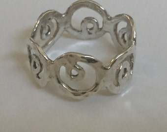 Sterling Ring size 6 abstract band