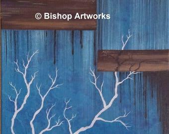 "12"" x 16"" Original Modern Abstract Acrylic Painting"