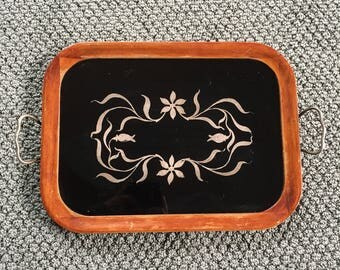 Vintage Royal Rochester Serving Tray | Royal Rochester Tray With Sterling Silver Overlay | Royal Rochester 011668