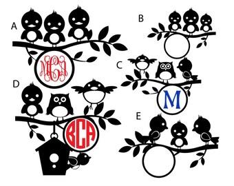 Bird Monogram decals