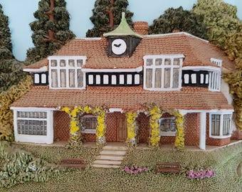 Lakeland studios Sunningdale Golf 3D Wood/resin plate