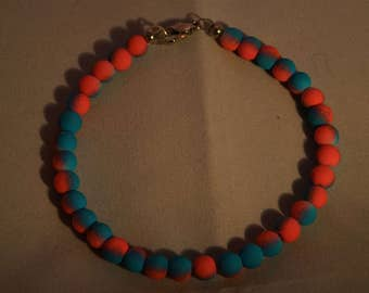 Cotton Candy Pink and Blue Bracelet