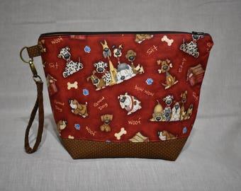 Good Dog Project Bag, Medium Bag for Knitting or Crochet