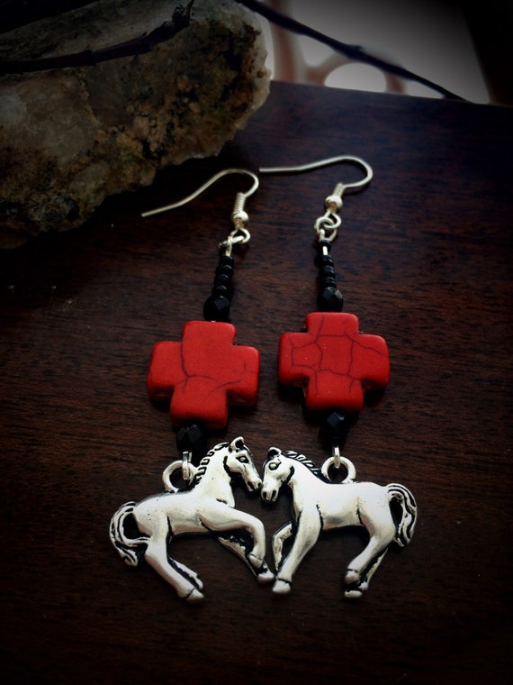 Red Crosses with Horse Charms