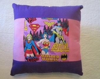 Wonder Woman BatGirl Supergirl Pillow
