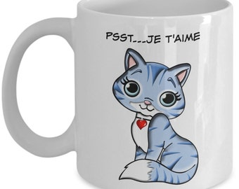 Je t'aime tasse céramique, Tasse à café, Tasse de café, Thé, Cat Lover Gift For Her, Crazy Cat Lady Or Not! Get Our Cute Cat Mug & Kitty Mug