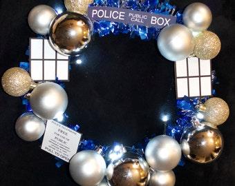 Doctor Who Tardis Wreath