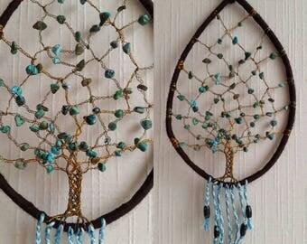 DREAM catcher (dreamcatcher) tree of life turquoise stone