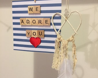 We Adore YOU Scrabble Frame