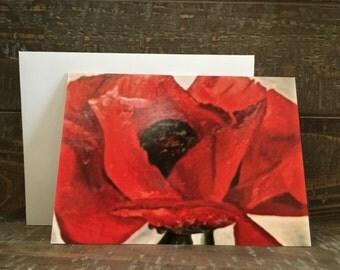 Note Card -- Georgia O'Keefe's Poppy