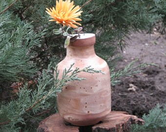 Pottery Vase flower vase Modern vase Pottery gift Wheel thrown vase Pottery handmade ceramics Terracotta Fine pottery