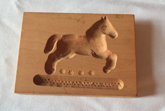 Springerle Vintage Hand-Carved Cookie/Paper Mold (East Germany) – Horse