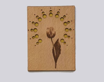 Greeting Card Wood Flower Circle