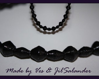 Paper beads necklace # 201