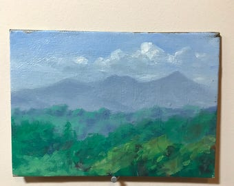 Pisgah Mts From The Porch