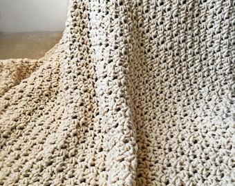 Chunky Crochet Blanket Afghan, Throw - The Dearborn Afghan