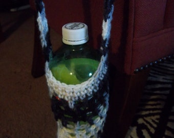 Black and White Water Bottle Holder