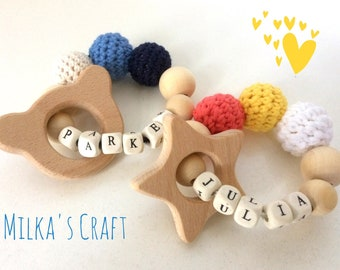 Natural Personalised Teether