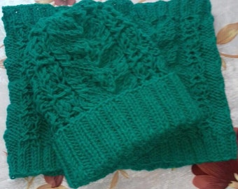 Cap and hood scarf