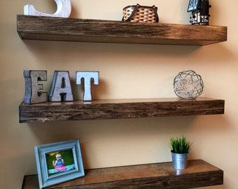 Wood Floating Shelf Etsy