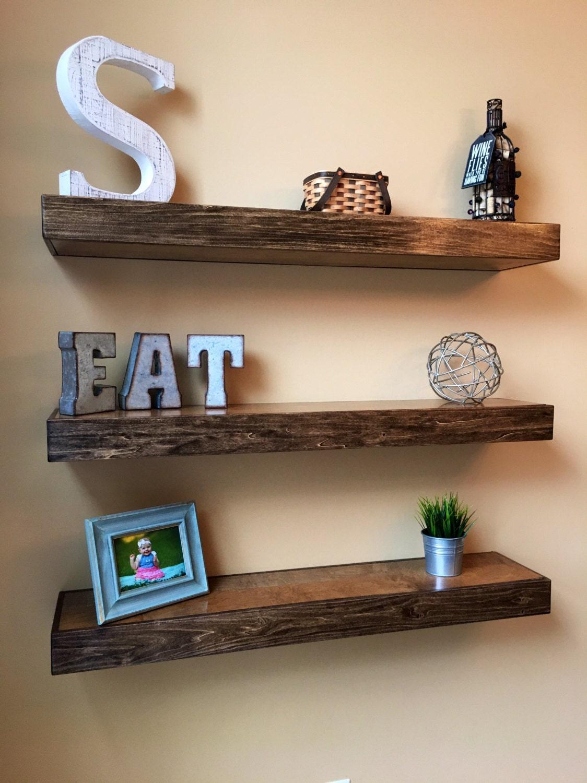 wood floating shelf 24 custom wood floating shelves. Black Bedroom Furniture Sets. Home Design Ideas