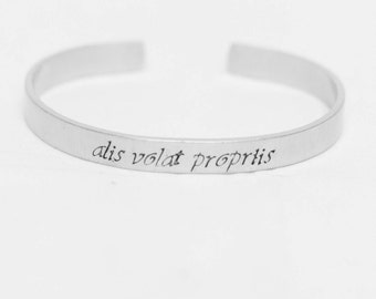 Alis Volat Propriis / She Flies With Her Own Wings / Latin Jewelry / Latin Bracelet / Inspirational Jewelry / Inspirational Bracelet