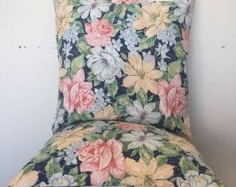 Retro Floral Sketch Cushion Cover Throw Pillow 50x50cm 19x19inch