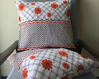 Retro Floral Tablecloth Cushion Cover 18x18inch 45x45cm Cushion Throw Cover