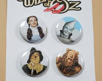 """Wizard of Oz (Set of 4) 1"""" Button or Magnet"""