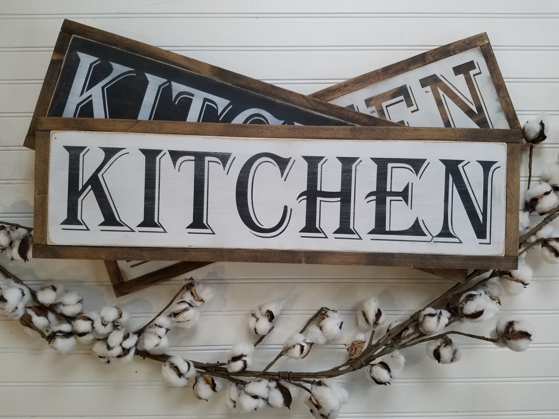 Kitchen Signs Kitchen Wall Decor Farmhouse Style Rustic