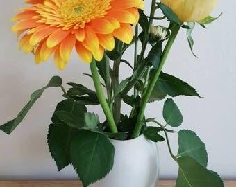 Handmade Bud Vase, Parian Vase, Porcelain Vase, Vase Gift, Valentines Gift, Valentine gift for her