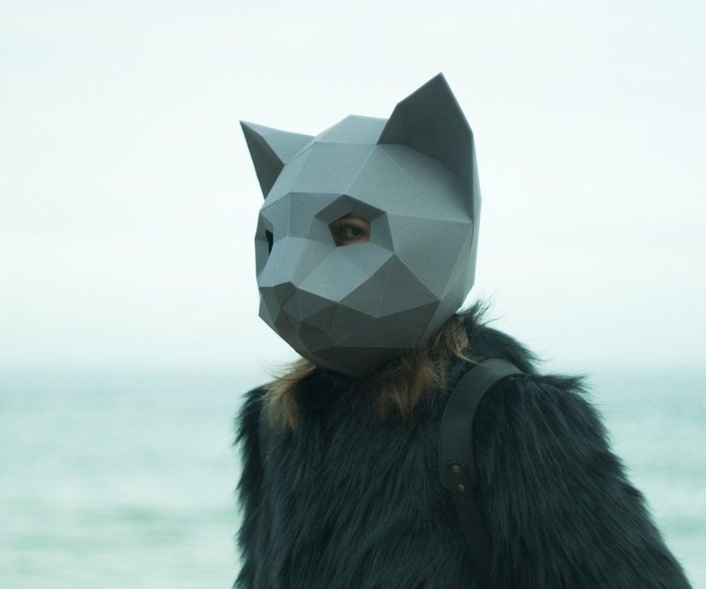Uncategorized How To Make A Cat Mask make cat mask diy animal head instant pdf download paper