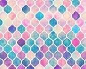 MERMAID CRIB BEDDING. Watercolor baby bedding. Rainbow Crib Sheet. Purplel Baby Sheet. Damasq Baby Blanket. Watercolor baby bedding.
