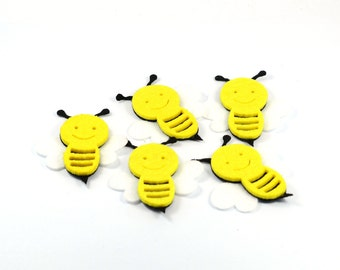 12 Pieces Felt Honey Bee Party Decorations Birthday Supplies Christmas