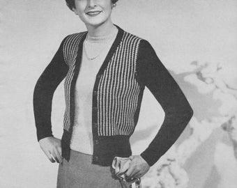 1940s Classic Flecked Cardigan