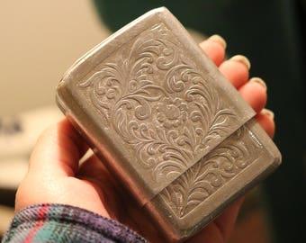 Vintage Engraved Cigarette Case