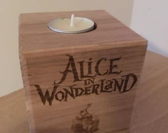 Alice in wonderland Tea light block