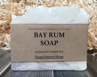 Bay rum Soap with clay Man soap Soap Guys Fathers day Gifts Natural soap Organic soap Homemade soap Gift for man Vegan soap Hot process soap