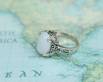 Gorgeous Vintage moonstone Ring C270R-1-S-US7
