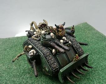Warhammer 40k Daemon Possessed Predator of Nurgle