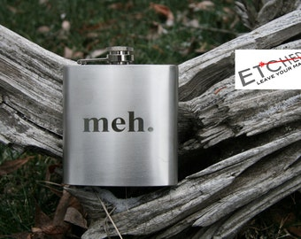 Laser engraved flask - Personalized flask, customized flask laser etched - Wedding gift, groomsmen gift, bachelor party gift HD Option Avail