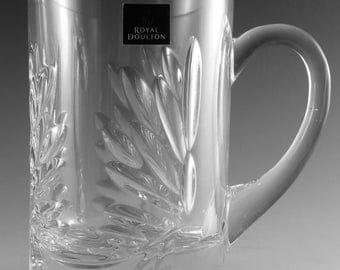 "Royal DOULTON Crystal - KESWICK Cut - Large Tankard / Tankards - 5 1/2"""
