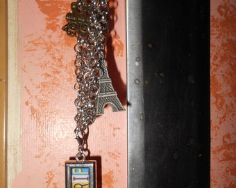 Roadtrip triple chain necklace with travel charms and roadtrip pendant