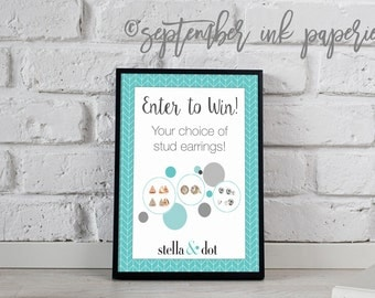 Event flyer etsy for Stella and dot invitation templates