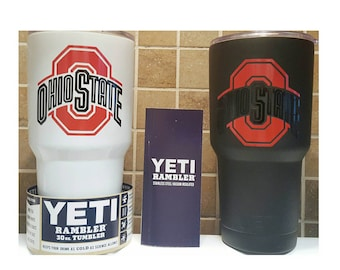 YETI - Ohio State University OSU Buckeyes Cup Mug 20oz 30oz Rambler Tumbler custom osu fan present customized personalized gift idea unique